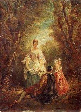 Jules Robert Auguste: Konversation im Park