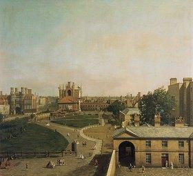 Canaletto (Giovanni Antonio Canal): London, Whitehall und Privy Garden von Richmond House aus