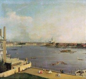 Canaletto (Giov.Antonio Canal): London, Themse und City von Richmond House aus gesehen