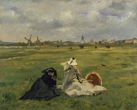 Edouard Manet: Frau und Mutter des Künstlers auf einer Wiese (oder: Die Schwalben)