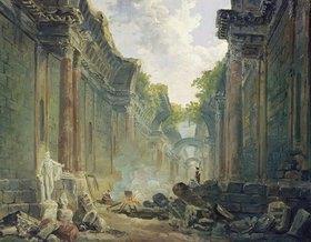 Hubert Robert: Phantastische Ansicht der grossen Galerie des Louvre als Ruine (II)