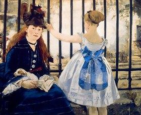Edouard Manet: Frau und Mädchen am Gare St.Lazare. 1873