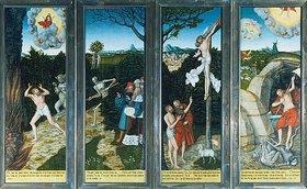 Lucas Cranach d.Ä.: Flügelaltar in St.Wolfgang in Schneeberg (Erzgebirge): Erste Ansicht