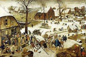 Pieter Brueghel d.Ä.: Die Ablieferung des Zehnten (oder: Die Volkszählung zu Bethlehem)