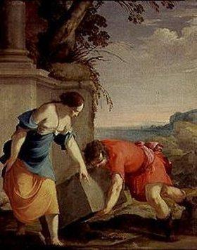 Laurent de La Hyre: Theseus findet die Waffen seines Vaters