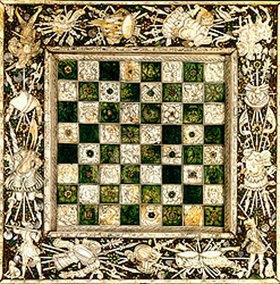 Anonym: Schachbrett mit Intarsien