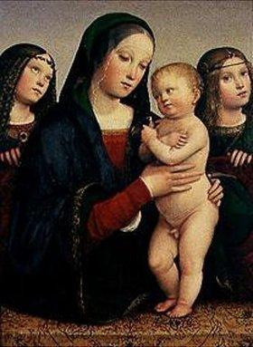 Francesco (Raibolini) Francia: Maria mit dem Kinde und zwei Engeln
