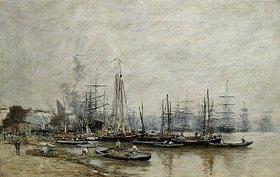Eugène Boudin: Im Hafen von Bordeaux
