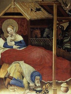 Konrad von Soest: Geburt Christi. Hochaltar in der Kirche von Bad Wildungen
