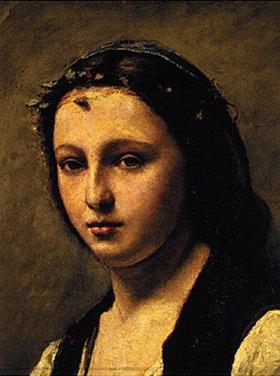 Jean-Baptiste Camille Corot: Die Frau mit der Perle (Ausschnitt)