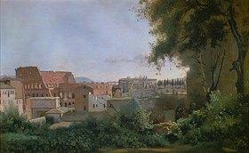 Jean-Baptiste Camille Corot: Blick aus den Farnesischen Gärten auf das Colosseum, Rom