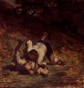 Honoré Daumier: Les voleurs et l'âne(nach La Fontaine)
