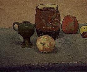 Emile Bernard: Krug und Äpfel