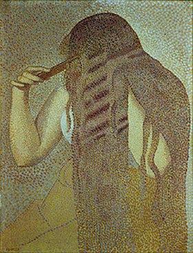 Henri Edmond Cross: Frau, ihre Haare kämmend