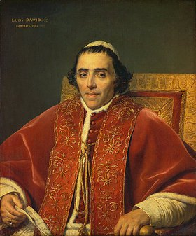 Jacques Louis David: Bildnis Papst Pius VII