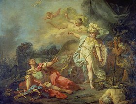 Jacques Louis David: Der Kampf zwischen Minerva und Mars
