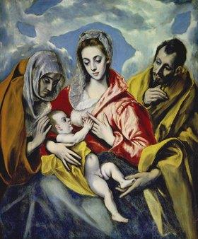 Greco El (Dom.Theotokopoulos): Die Heilige Familie mit der hl.Anna. Um 1595(?)