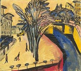 Ernst Ludwig Kirchner: Gelbes Engelsufer, Berlin