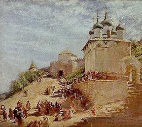Konstantin Jegor Makovskij: Auf einem Platz von Ivanovskij bei Nishni Nowgorod
