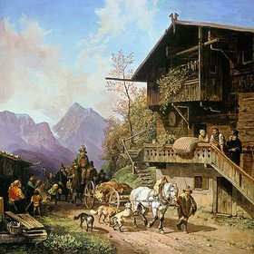 Heinrich Bürkel: Rückkehr von der Bärenjagd