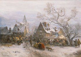 Carl Hilgers: Markttag im Winter