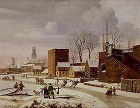 Johann Wilhelm Preyer: Holländische Winterlandschaft