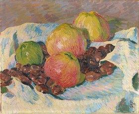 Giovanni Giacometti: Stilleben mit Äpfeln und Kastanien