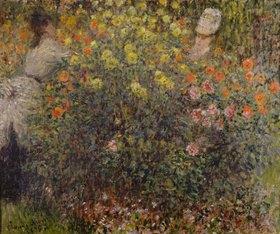 Claude Monet: Zwei Damen im Blumengarten