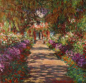 Claude Monet: Weg in Monets Garten in Giverny