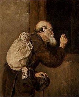 Wassili Perow: Alter Pilger an der Klosterpforte