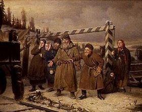 Wassili Perow: An einer Eisenbahnstation in Russland
