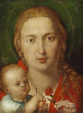 Albrecht Dürer: Muttergottes mit der Nelke