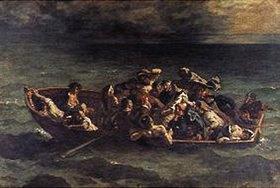 Eugene Delacroix: Der Schiffbruch des Don Juan. 1840. (Nach Byron: Don Juan)
