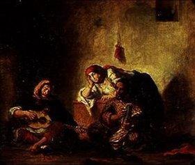 Eugene Delacroix: Jüdische Musikanten in Mogador. Gegen