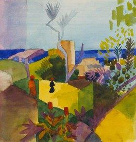August Macke: Landschaft am Meer