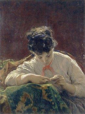 Mose Bianchi: Lesende Frau