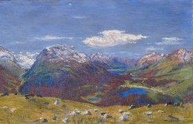 Giovanni Giacometti: Blick vom Muottas Muragl auf das Oberengadin