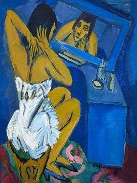 Ernst Ludwig Kirchner: Toilette - Frau vor dem Spiegel