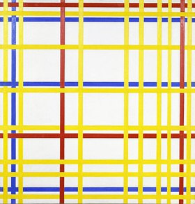 Piet Mondrian: New York City I.. Gegen