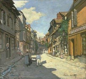 Claude Monet: Dorfstrasse in der Normandie (Rue de la Bavolle, Honfleur)