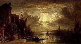 Eduard Schleich d.Ä.: Venedig bei Mondschein. 1861(?)