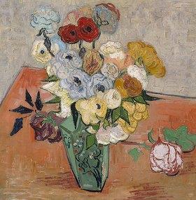 Vincent van Gogh: Vase mit Rosen und Anemonen
