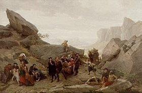Timoléon Maria Lobrichon: Die Flucht der Bewohner von Vaud während des Massakers von Meridol und Cabrieres