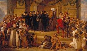 Julius Hübner: Der Anschlag der 95 Thesen durch Martin Luther