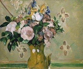 Paul Cézanne: Blumenstrauss in einer braunen Vase. I