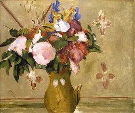 Paul Cézanne: Blumenstrauss in einer braunen Vase. II
