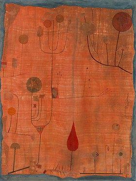 Paul Klee: Früchte auf rot (oder: Das Schweißtuch des Geigers)