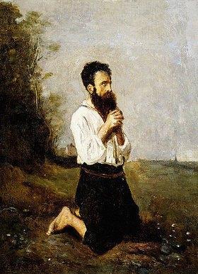 Jean-Baptiste Camille Corot: Betender Bauer