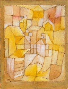 Paul Klee: Rosa-Gelb (Fenster und Dächer). 1919