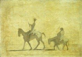 Honoré Daumier: Don Quichote und Sancho Pans